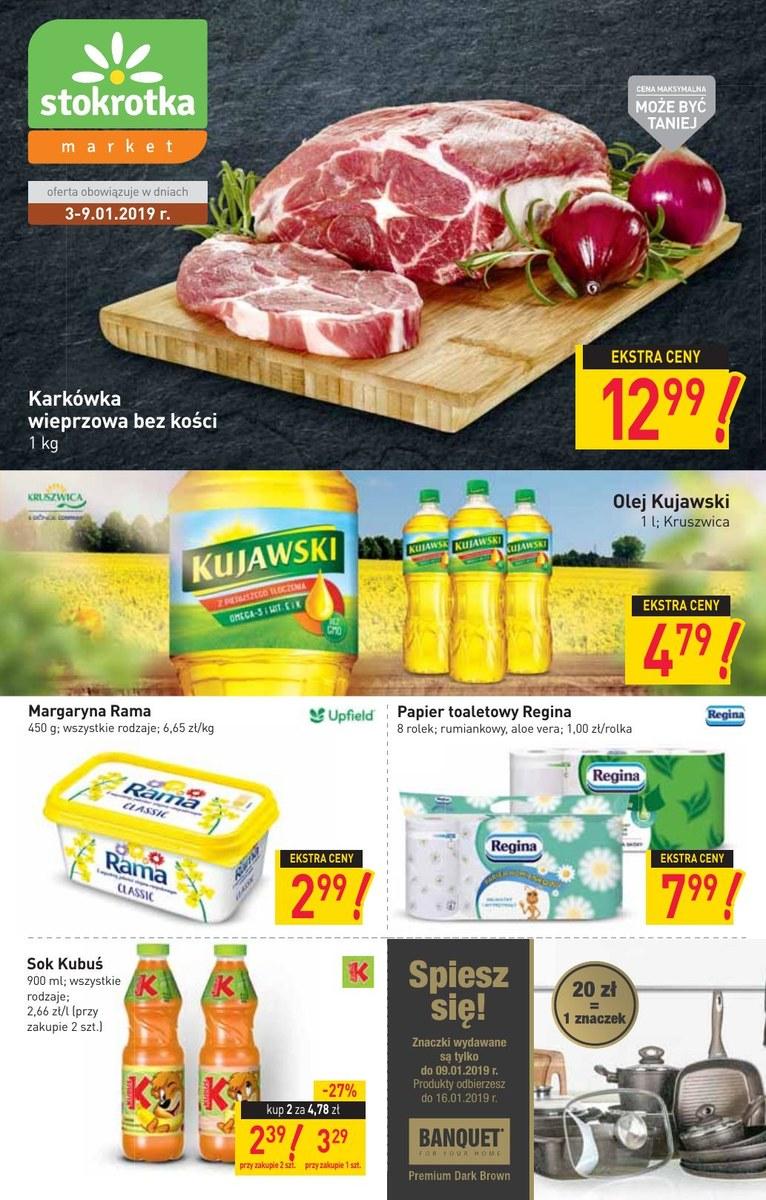 d8cacc3a7ce93d Gazetka Stokrotka - Oferta handlowa - market, strona 1, ważna od 2019-01