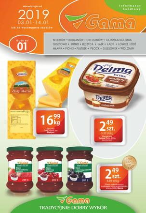 Gazetka promocyjna Gama, ważna od 03.01.2019 do 14.01.2019.