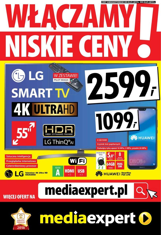 Gazetka promocyjna Media Expert - ważna od 03. 01. 2019 do 23. 01. 2019
