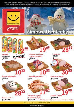 Gazetka promocyjna Uśmiechnięte Zakupy, ważna od 02.01.2019 do 21.01.2019.