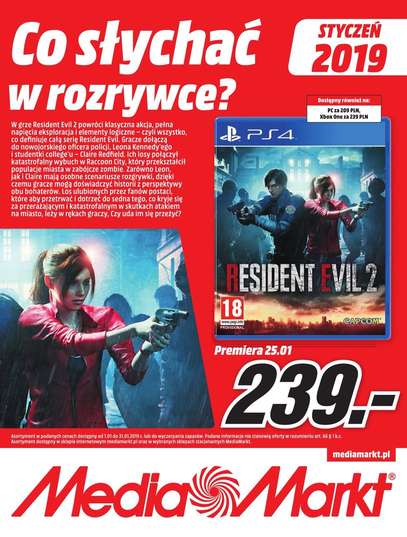 Gazetka promocyjna Media Markt - ważna od 01. 01. 2019 do 31. 01. 2019