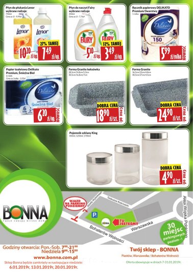 Gazetka promocyjna Bonna, ważna od 08.01.2019 do 31.01.2019.