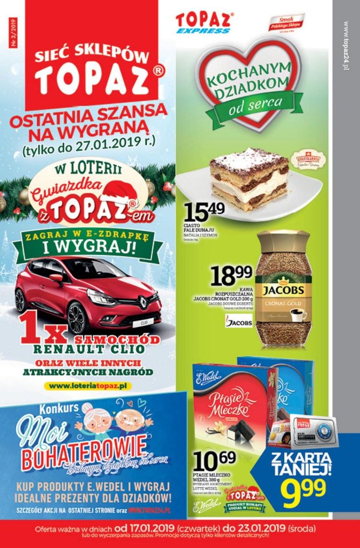 Gazetka promocyjna Topaz - ważna od 17. 01. 2019 do 23. 01. 2019