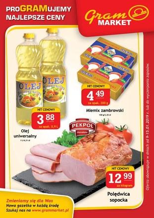 Gazetka promocyjna Gram Market, ważna od 09.01.2019 do 15.01.2019.