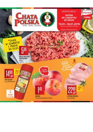Gazetka promocyjna Chata Polska, ważna od 10.01.2019 do 16.01.2019.