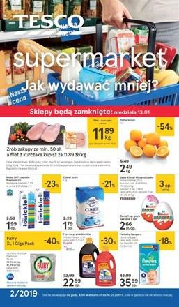 Gazetka promocyjna Tesco Supermarket, ważna od 10.01.2019 do 16.01.2019.