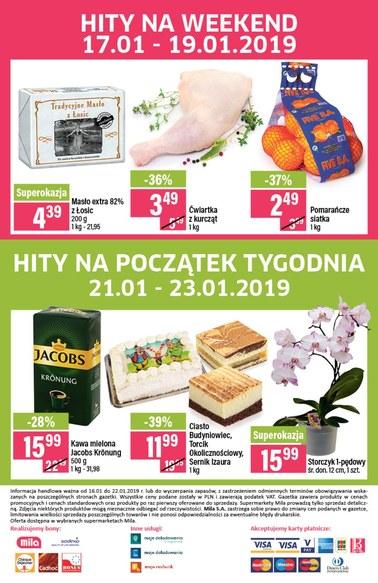 Gazetka promocyjna MILA, ważna od 16.01.2019 do 22.01.2019.