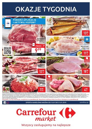 Gazetka promocyjna Carrefour Market, ważna od 15.01.2019 do 21.01.2019.