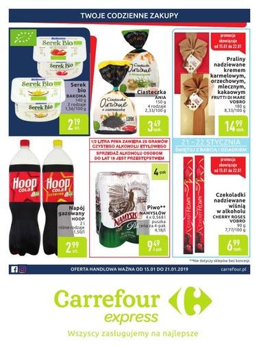 Gazetka promocyjna Carrefour Express, ważna od 15.01.2019 do 21.01.2019.