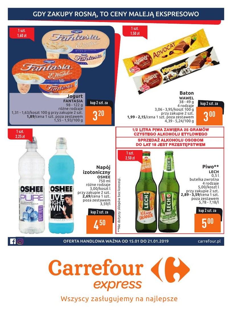 Gazetka promocyjna Carrefour Express - ważna od 15. 01. 2019 do 21. 01. 2019