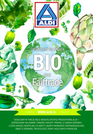 Gazetka promocyjna Aldi - Zapraszamy do świata BIO oraz Fairtrade