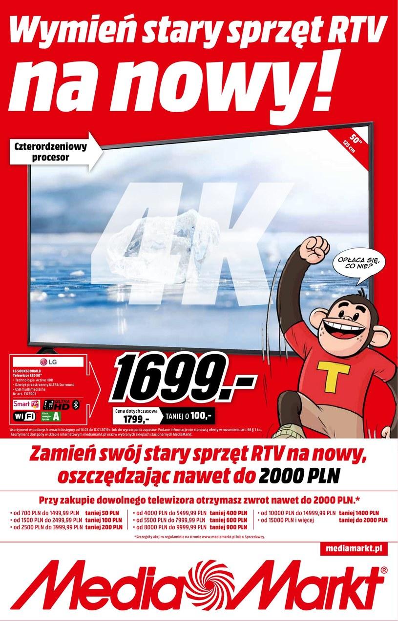 Gazetka promocyjna Media Markt - ważna od 14. 01. 2019 do 17. 01. 2019