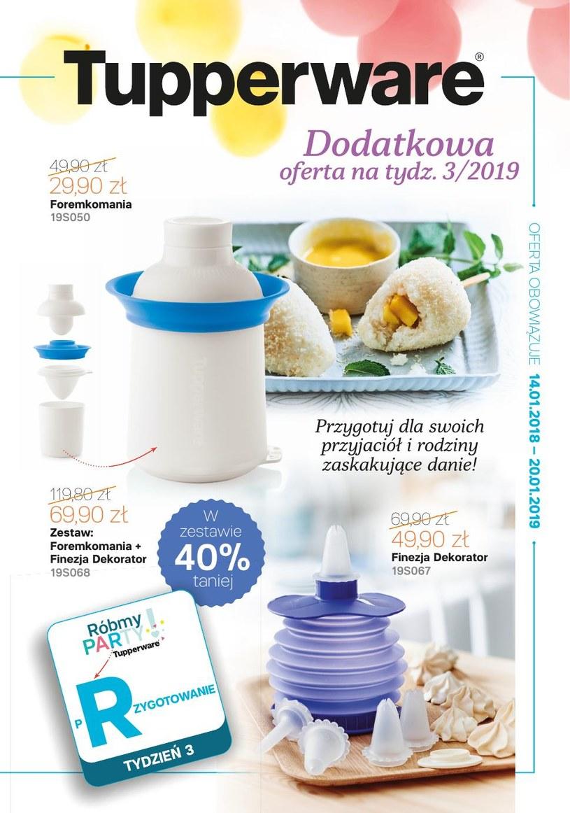 Gazetka promocyjna Tupperware - ważna od 14. 01. 2019 do 20. 01. 2019