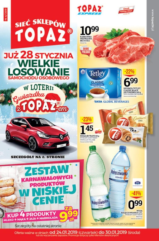 Gazetka promocyjna Topaz - ważna od 24. 01. 2019 do 30. 01. 2019