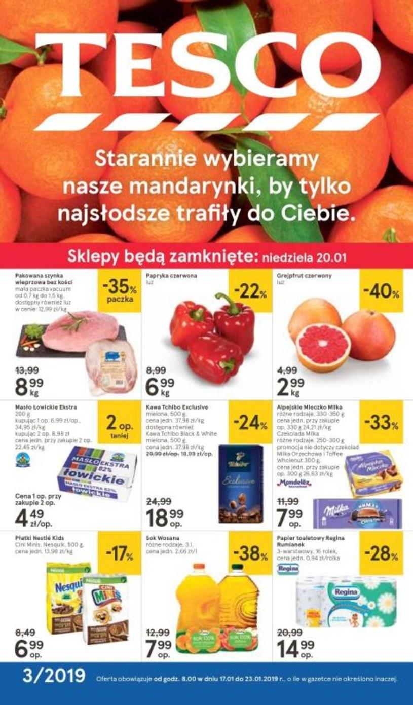 Gazetka promocyjna Tesco Hipermarket - ważna od 17. 01. 2019 do 23. 01. 2019