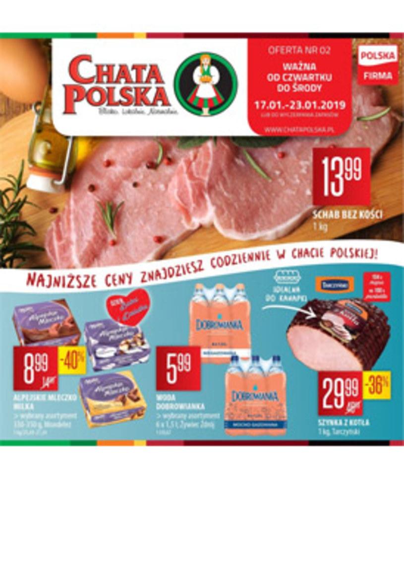 Gazetka promocyjna Chata Polska - ważna od 17. 01. 2019 do 23. 01. 2019