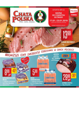 Gazetka promocyjna Chata Polska, ważna od 17.01.2019 do 23.01.2019.