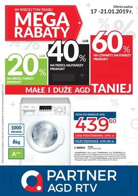 Gazetka promocyjna Partner AGD RTV  - Mega Rabaty