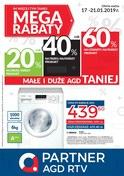 Gazetka promocyjna Partner AGD RTV  - Mega Rabaty - ważna do 21-01-2019