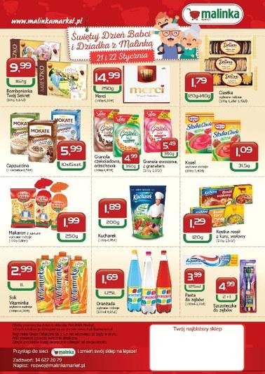 Gazetka promocyjna MALINKA Market, ważna od 17.01.2019 do 30.01.2019.