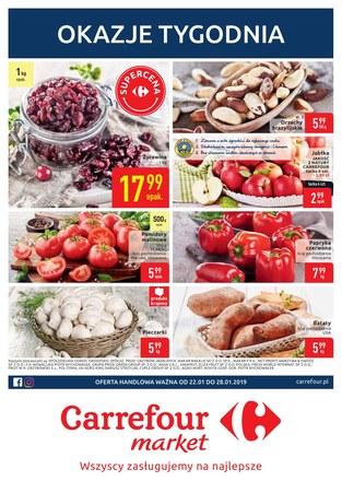 Gazetka promocyjna Carrefour Market, ważna od 22.01.2019 do 28.01.2019.