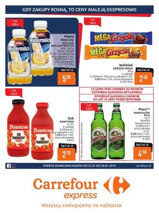 Gazetka promocyjna Carrefour Express, ważna od 22.01.2019 do 28.01.2019.