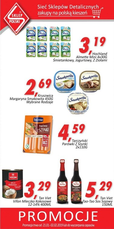 Gazetka promocyjna Sklep Polski, ważna od 21.01.2019 do 02.02.2019.