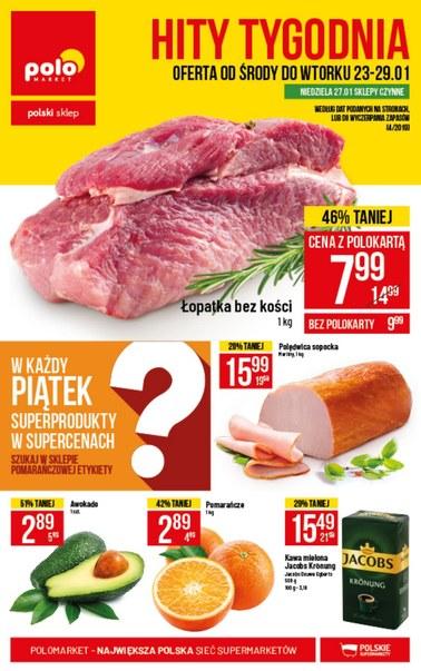Gazetka promocyjna POLOmarket, ważna od 23.01.2019 do 29.01.2019.