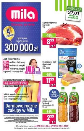 Gazetka promocyjna MILA, ważna od 23.01.2019 do 29.01.2019.