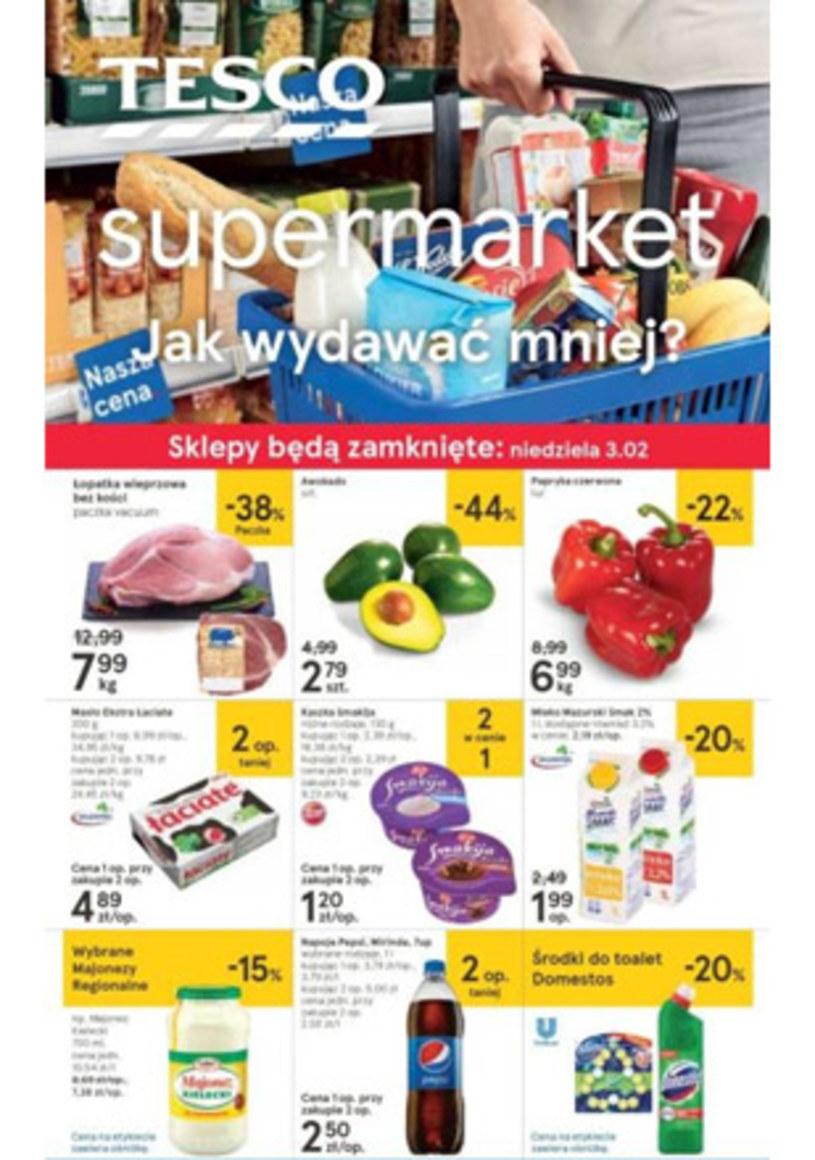 Gazetka promocyjna Tesco Supermarket - wygasła 12 dni temu