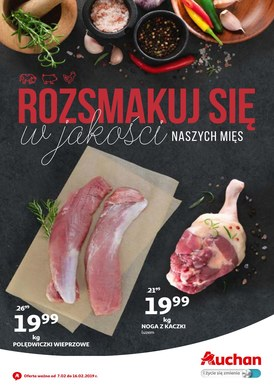 Gazetka promocyjna Auchan - Rozsmakuj się w jakości naszych mięs
