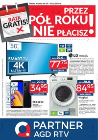 Gazetka promocyjna Partner AGD RTV  - Przez pół roku nie płacisz! - ważna do 14-02-2019