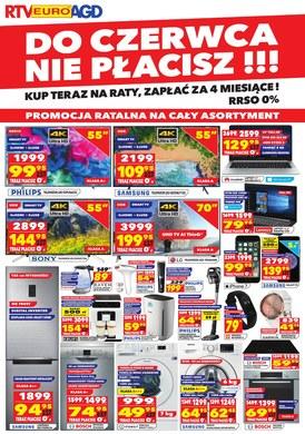 Gazetka promocyjna RTV EURO AGD - Do czerwca nie płacisz!!!