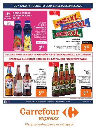 Gazetka promocyjna Carrefour Express, ważna od 12.02.2019 do 18.02.2019.