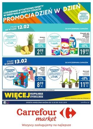 Gazetka promocyjna Carrefour Market, ważna od 12.02.2019 do 18.02.2019.