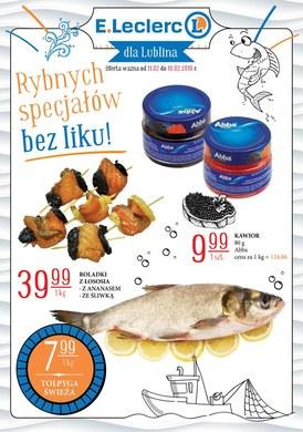 Gazetka promocyjna E.Leclerc - Rybnych specjałów bez liku!