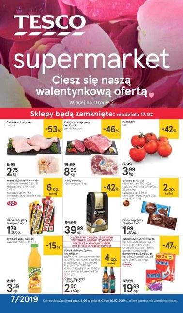 Gazetka promocyjna Tesco Supermarket, ważna od 14.02.2019 do 20.02.2019.