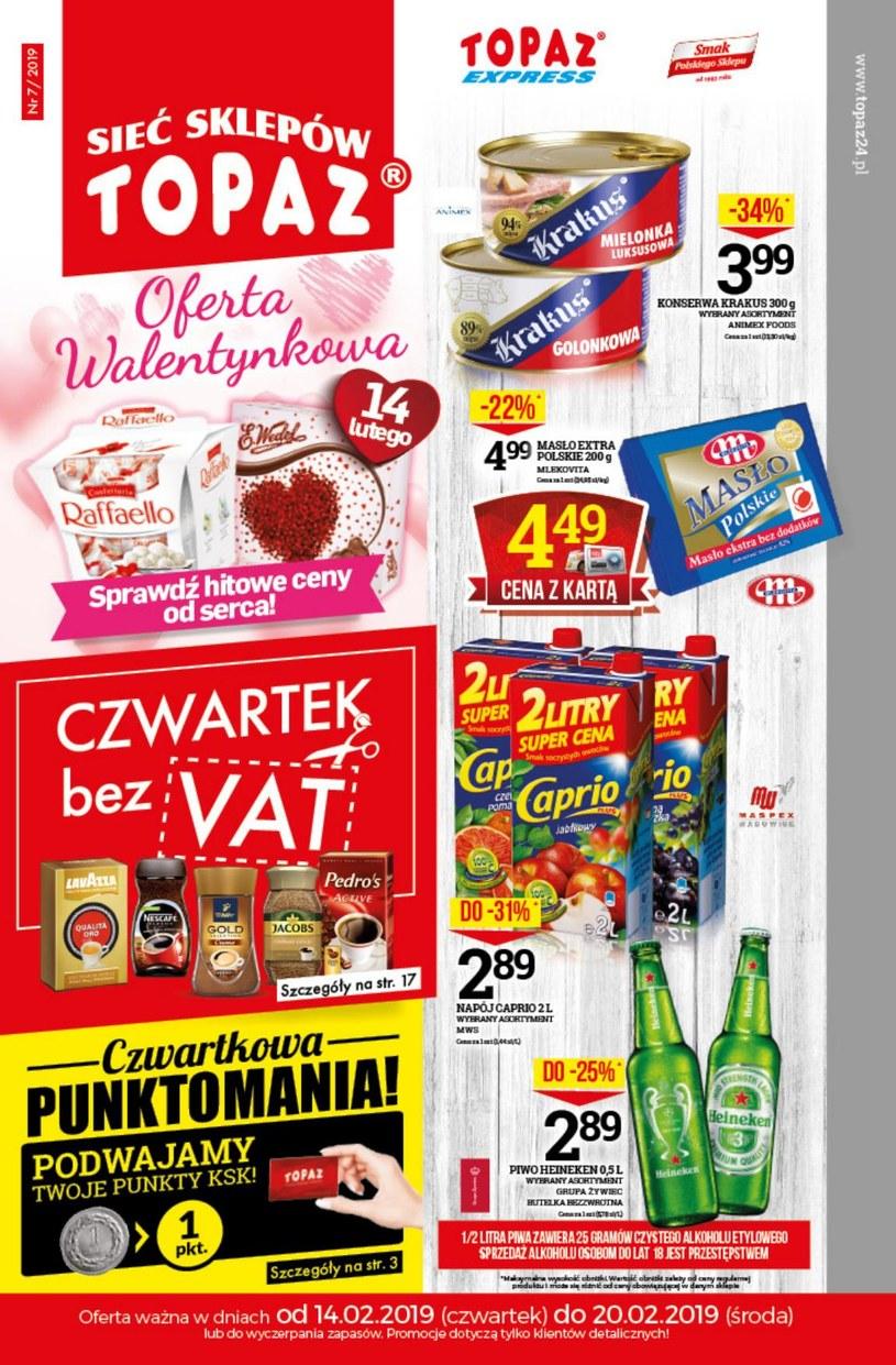 Gazetka promocyjna Topaz - ważna od 14. 02. 2019 do 20. 02. 2019