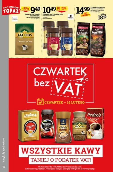 Gazetka promocyjna Topaz, ważna od 14.02.2019 do 20.02.2019.