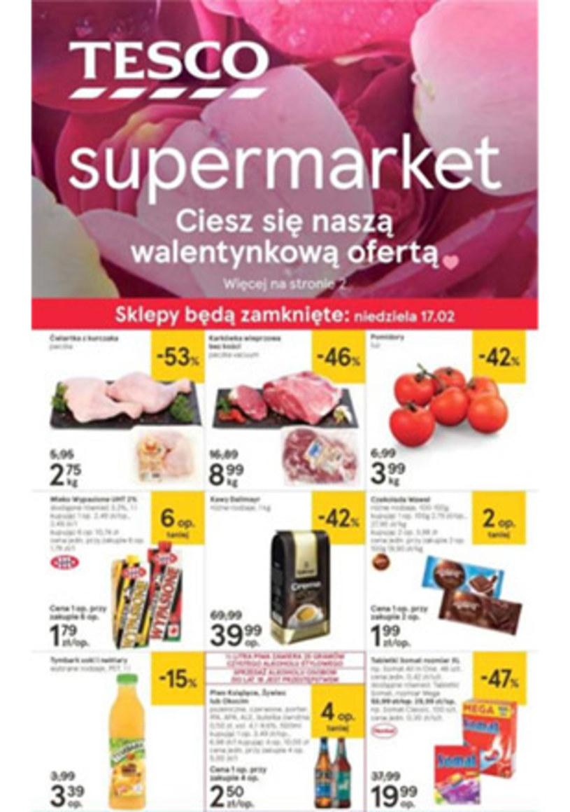 Gazetka promocyjna Tesco Supermarket - ważna od 14. 02. 2019 do 20. 02. 2019