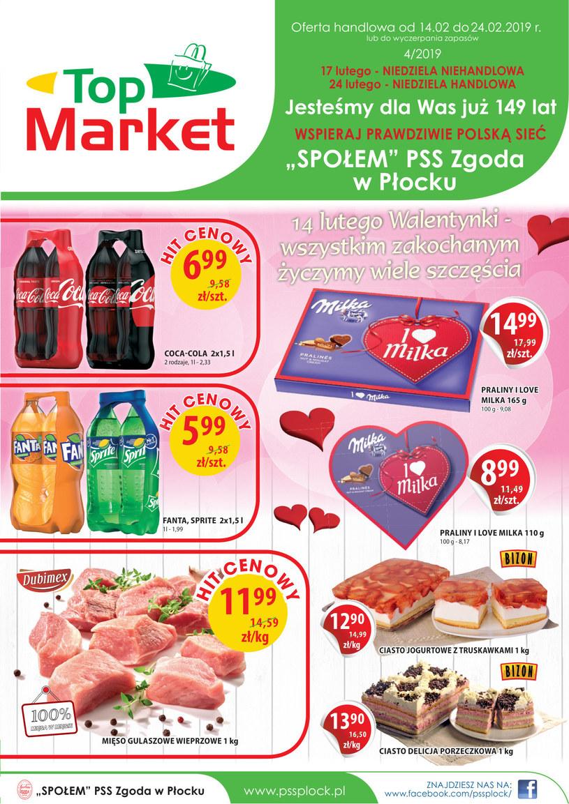 Gazetka promocyjna Top Market - ważna od 14. 02. 2019 do 24. 02. 2019