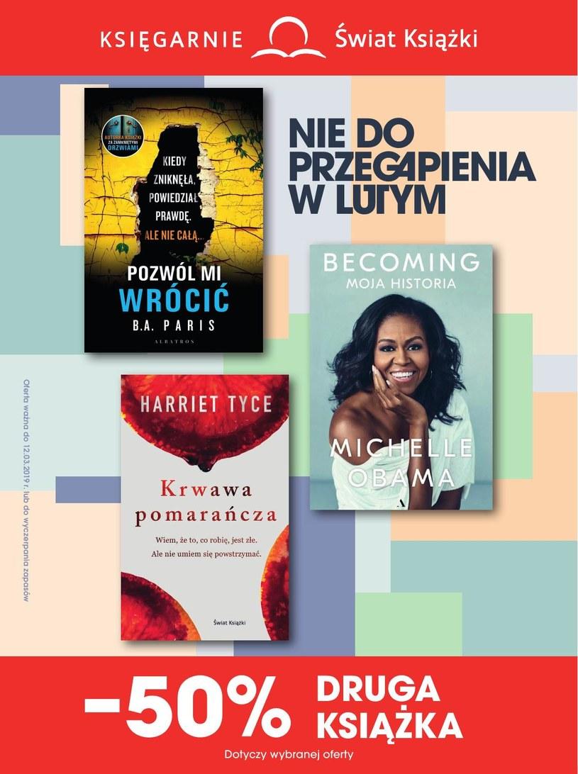 Gazetka promocyjna Księgarnie Świat Książki - ważna od 13. 02. 2019 do 12. 03. 2019
