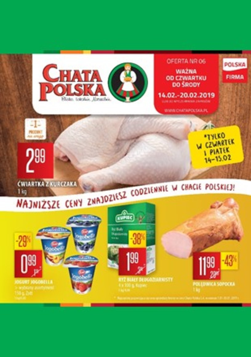Gazetka promocyjna Chata Polska - ważna od 14. 02. 2019 do 20. 02. 2019