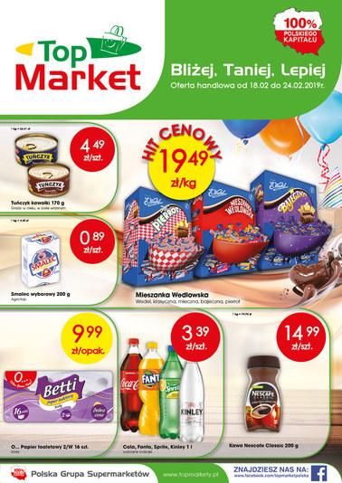 Gazetka promocyjna Top Market, ważna od 18.02.2019 do 24.02.2019.