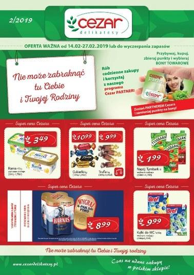 Gazetka promocyjna Delikatesy CEZAR, ważna od 14.02.2019 do 27.02.2019.