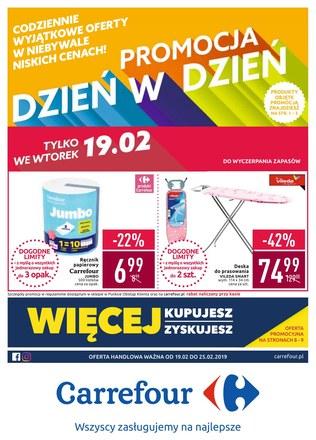 Gazetka promocyjna Carrefour, ważna od 19.02.2019 do 25.02.2019.