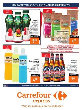 Gazetka promocyjna Carrefour Express, ważna od 19.02.2019 do 25.02.2019.