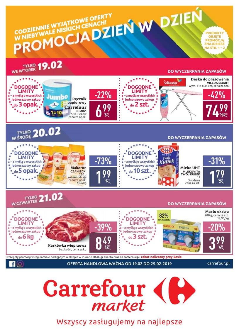 Gazetka promocyjna Carrefour Market - ważna od 19. 02. 2019 do 25. 02. 2019