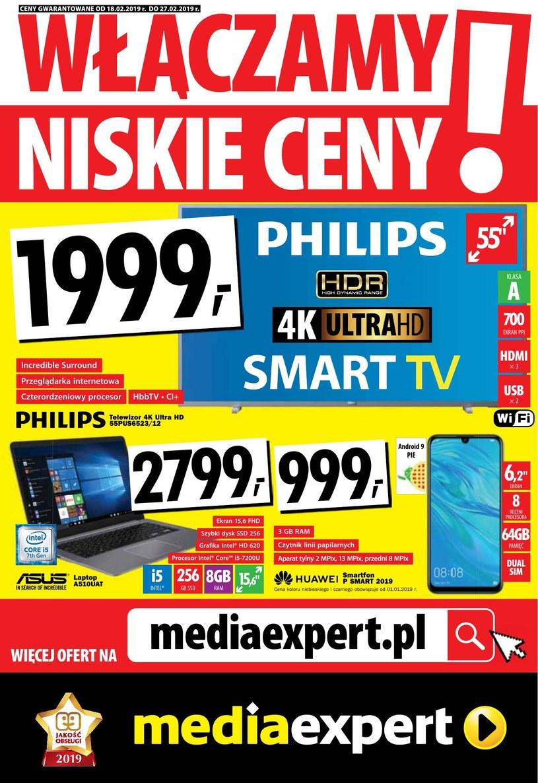 Gazetka promocyjna Media Expert - ważna od 18. 02. 2019 do 27. 02. 2019