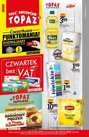 Gazetka promocyjna Topaz, ważna od 21.02.2019 do 27.02.2019.